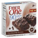 GENERAL MILLS BARRA FIBER ONE CHOCO FUDGE BROWNIES90CAL 151G