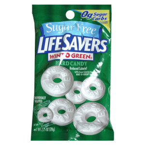 LIFE SAVERS MINTS WINT O GREEN SUGAR FREE 78G
