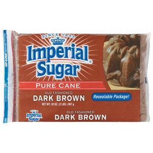 IMPERIAL SUGAR PURE CANE ALL NATURAL DARK BROWN SUGAR 907G
