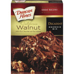 DUNCAN HINES HARINA DECADENT BROWNIE MIX CHOCO/WALNUTS 498G