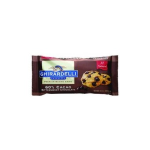 CHOCOLATE GHIRARDELLI ALL NATURAL 60% CACAO BITTERSWEET 283G