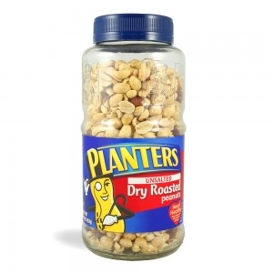PLANTERS CACAHUATES UNSALTED DRY ROASTED PEANUTS FRASCO ...